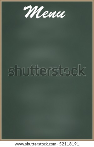 Blank menu board - stock photo