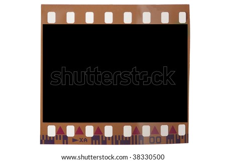 blank 35 mm frame - stock photo