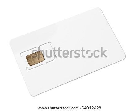 Blank mobile sim card - stock photo