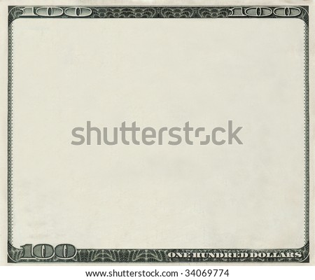 blank money background for design with copyspace - stock photo