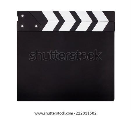 Blank movie clapper - stock photo