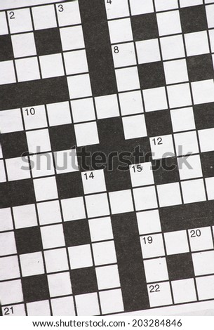 """Newspaper Crossword Puzzle"" Stock Photos, Royalty-Free"