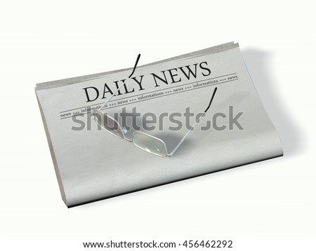 blank newspaper with the headline - Daily News - 3d rendering
