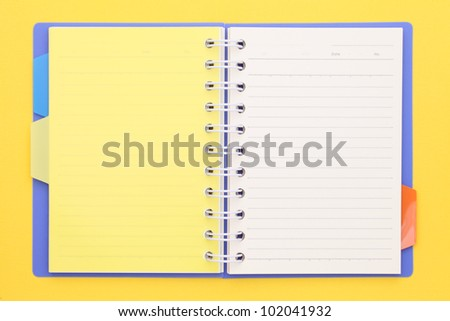 Blank note book - stock photo