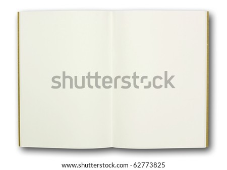 blank note book, isolated - stock photo