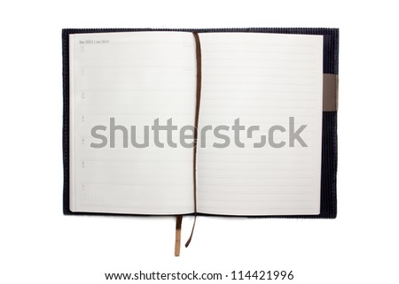 blank note book, isolated on white background - stock photo