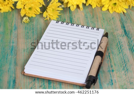 blank note book page