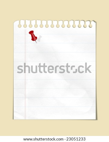 blank note lined paper - stock photo
