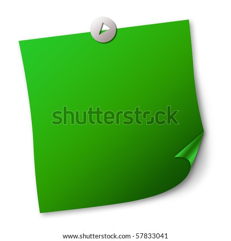 Blank note paper - stock photo