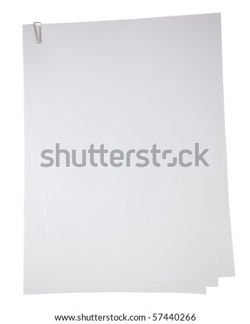 Blank note paper. Isolated with clipping path.