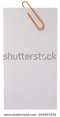 Blank note paper with staple - stock photo