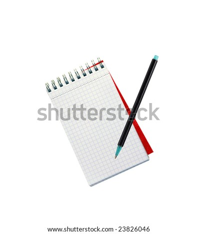 Blank note with pencil - stock photo
