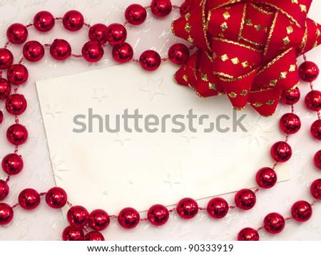 blank note with red decor