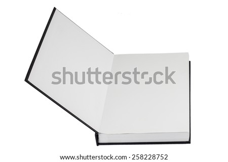 blank notebook isolate on a white background - stock photo