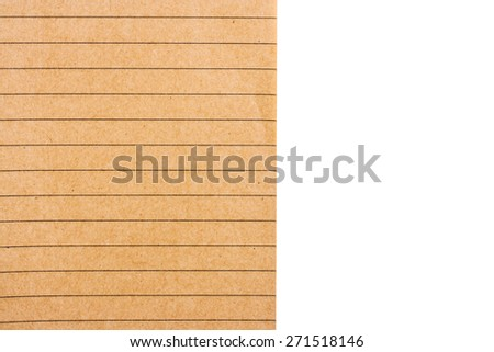blank notebook isolate on white background - stock photo