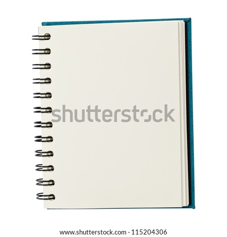 Blank notebook isolated - stock photo