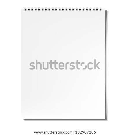 Blank Notebook, Isolated On White Background - stock photo