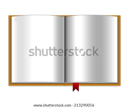 Blank NoteBook open Isolated on a white background - stock photo