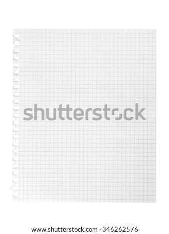 Blank Notebook Paper with lined Background or Texture. Clipping Path - stock photo