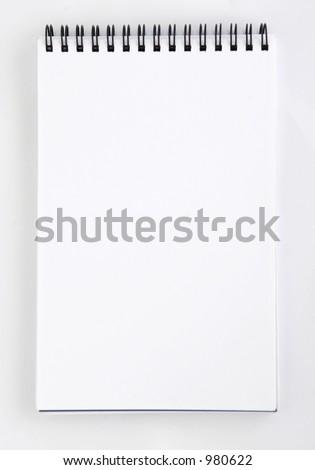 blank notepad - stock photo