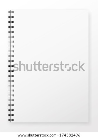 Blank Notepad without markup . - stock photo