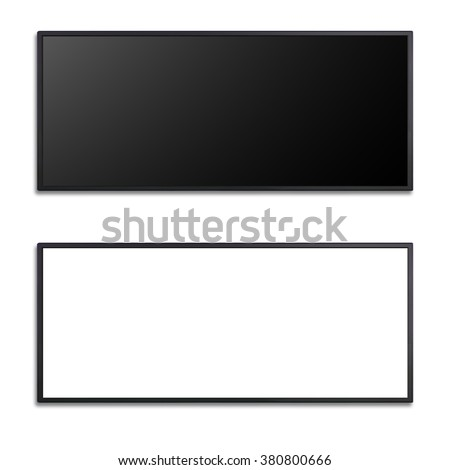 blank of letter box flat screen for keying any promotion banner - stock photo