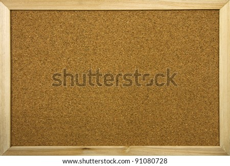 blank office cork board with wooden frame - stock photo