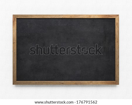 Blank old blackboard - stock photo