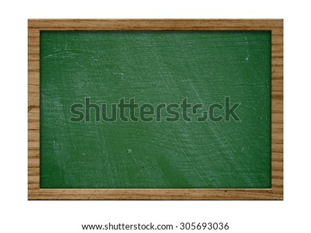 Blank old blackboard with wooden frame and Copy Space