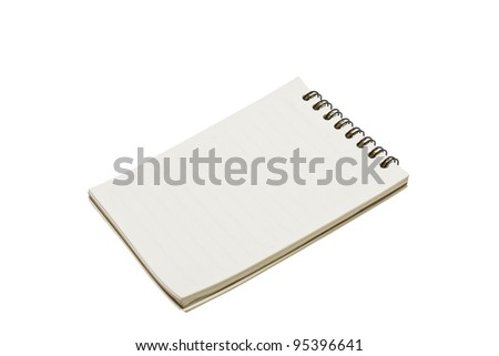 Blank one face white paper - stock photo