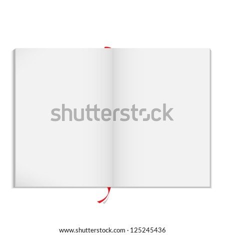 Blank open magazine. Raster version - stock photo