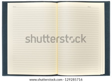 blank open notepad