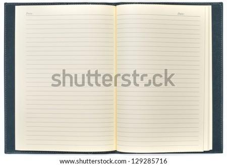 blank open notepad - stock photo