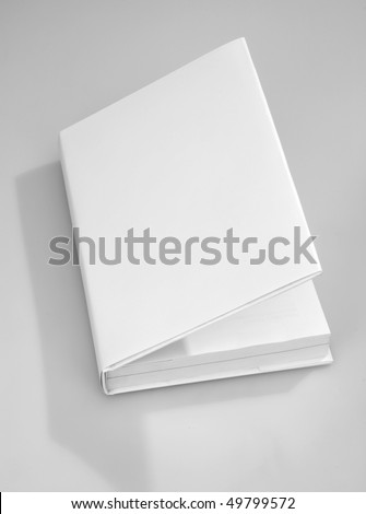 Blank opened book cover white - stock photo