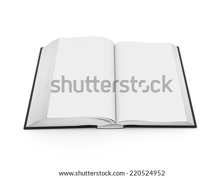 Blank opened book rendered