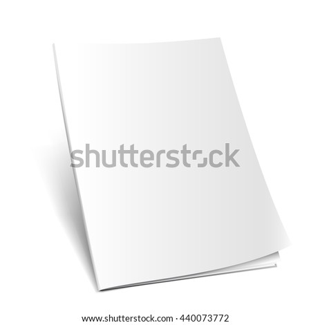 Blank opened magazine mockup template. Realistic illustration. Raster copy of vector file. - stock photo
