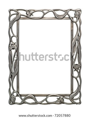 Blank Ornate Metal Picture Photo Frame - stock photo