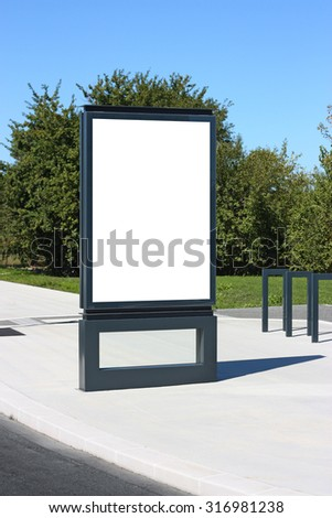 blank outdoor billboard france mockup template stock photo royalty