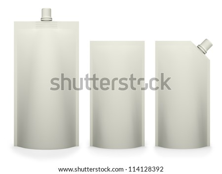 blank packages isolated on white - stock photo