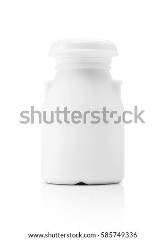 blank packaging milk beverage plastic bottle isolated on white background