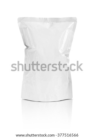 Blank packaging snack pouch isolated on white background