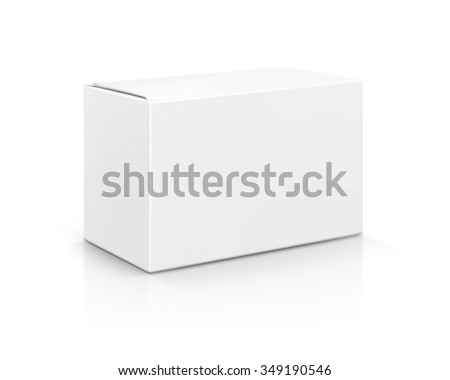 blank packaging white cardboard box isolated on white background with clipping path, ready for packaging design