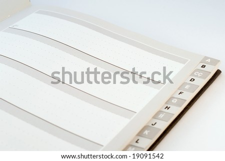 Blank page of Alphabetical Telephone and Address Directory - stock photo