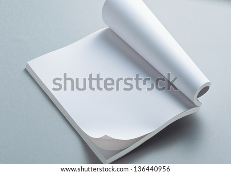 blank page of note - stock photo