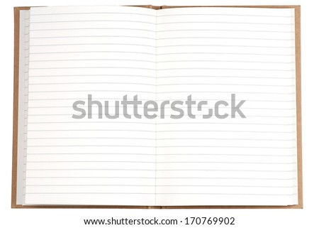Blank page of note book - stock photo