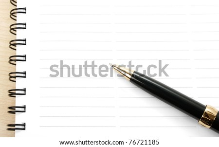 Blank page on a wooden table
