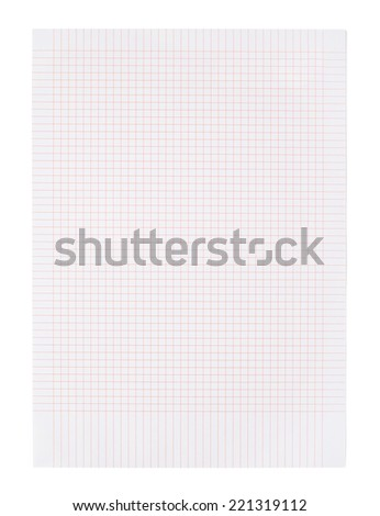 Blank paper Blank page on white background