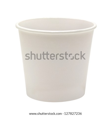 Blank Paper Cup On White Background - stock photo