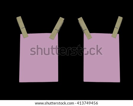 blank paper note on black background - stock photo