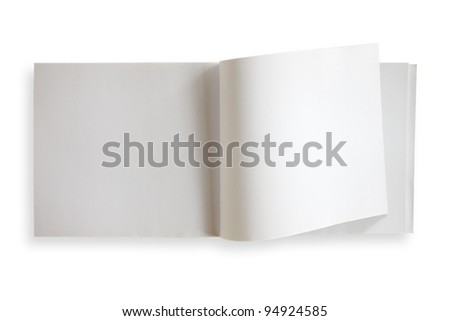 Blank paper on white background - stock photo
